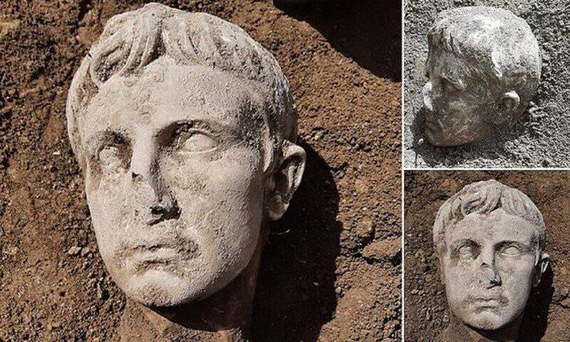 Археологи откопали голову императора Августа
