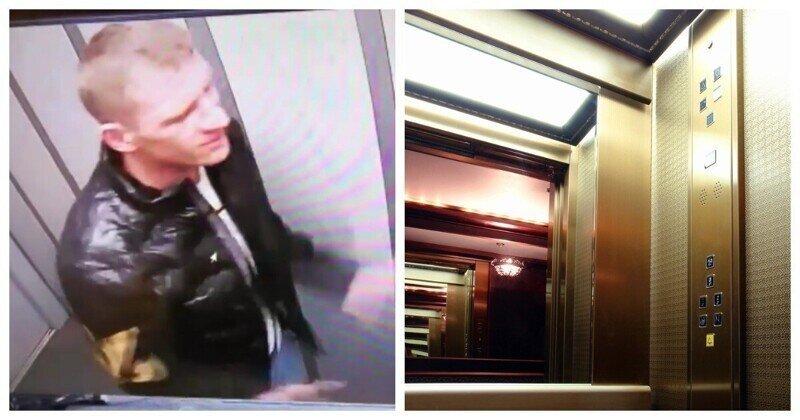 В Бийске парень не устоял перед своим отражением в зеркале лифта