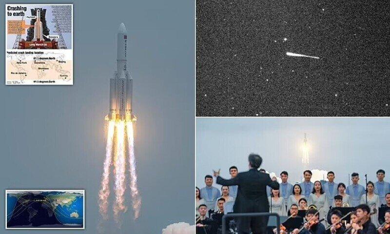 """Обломки ступени китайской ракеты """"Чанчжэн-5Б"""" упали в Индийский океан"""