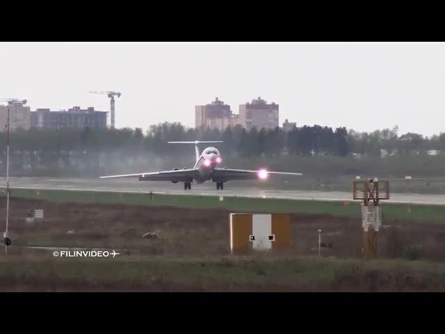 Ил-62 - Динамическое торможение и реверс