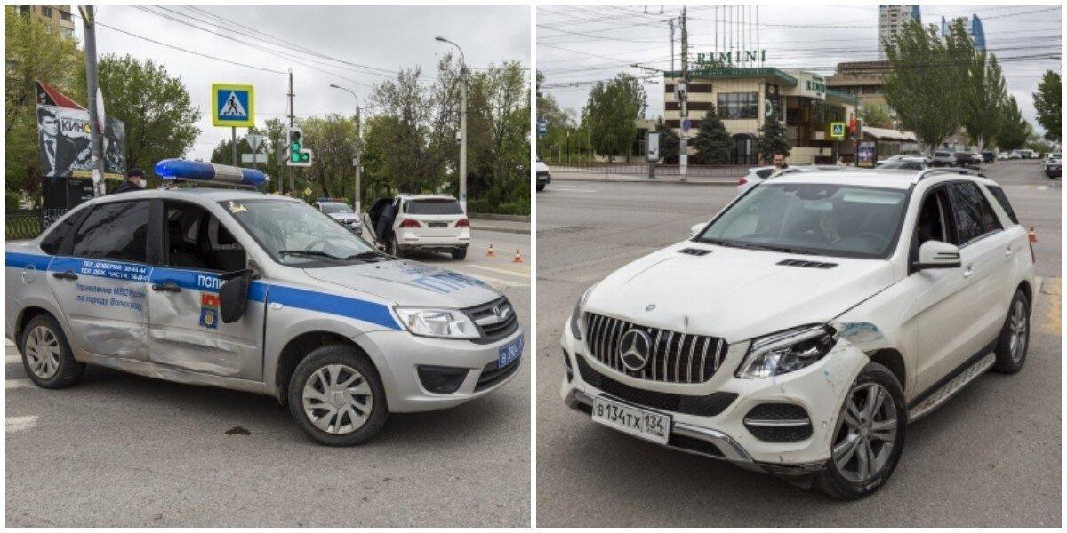 В Волгограде водитель протаранил автомобиль ДПС, но уверен в своей невиновности