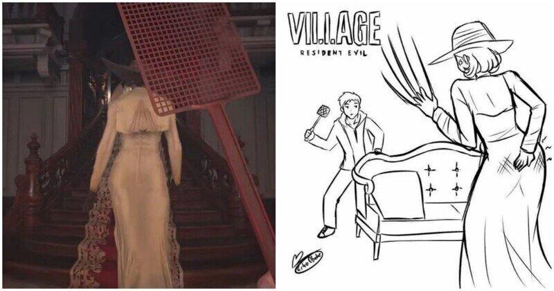 Геймер превратил сцену из игры в жанре хоррор в комедию