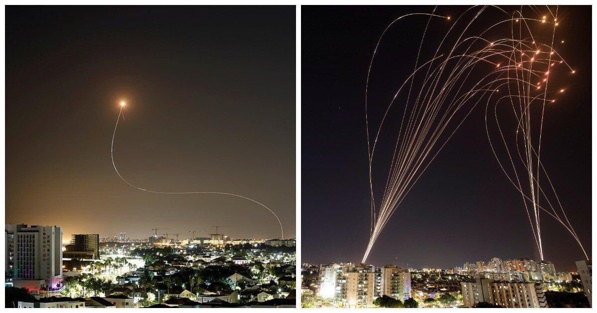 """Израильтяне показали, как """"Железный купол"""" справляется с палестинскими ракетами"""