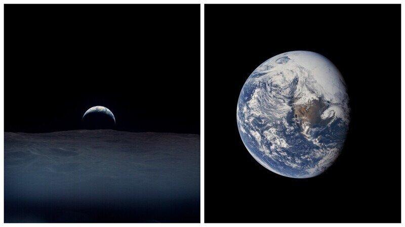 """Снимки Земли, сделанные астронавтами миссий """"Аполлон"""" в 60-х годах"""