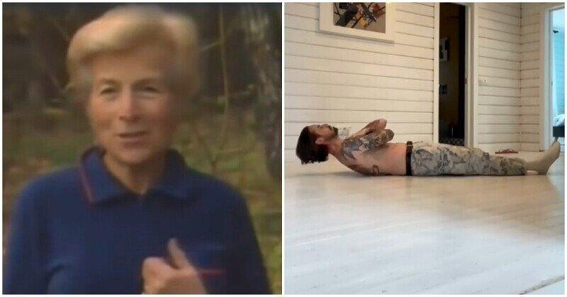 Сможете ли вы повторить упражнение, показанное 73-летней женщиной?
