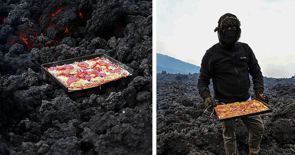 Осторожно, горячее: Гватемалец готовит пиццу на действующем вулкане