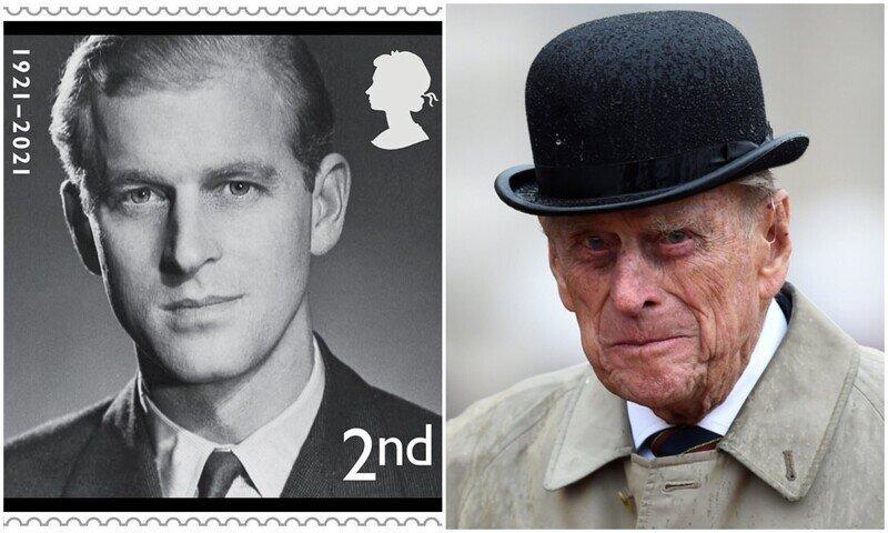 В память принца Филиппа выпустили почтовые марки