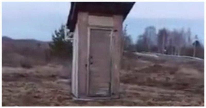 Туалет возле придорожного кафе удивил мужчину