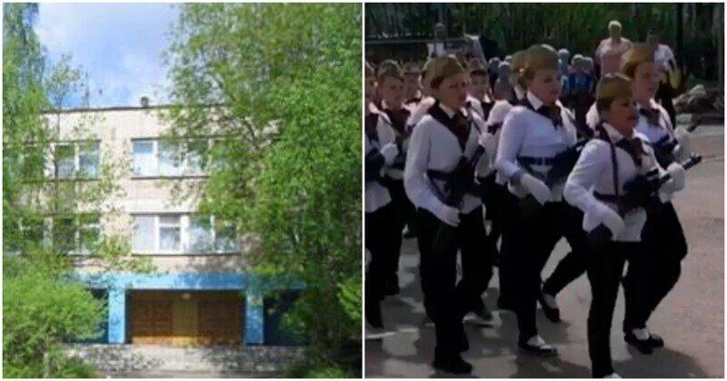 """""""Мы русские, с нами бог"""", - пели марширующие подмосковные школьники"""