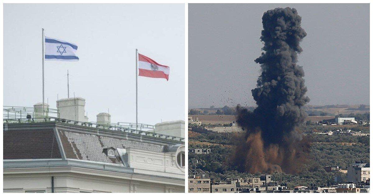 Президент Турции проклял Австрию за поднятые флаги Израиля на правительственном здании