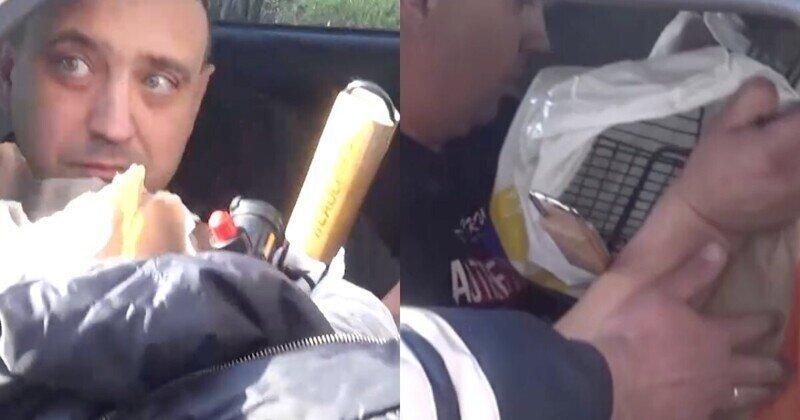 Вместо прав пьяный водитель в Кузбассе предложил инспектору посмотреть на набор для барбекю