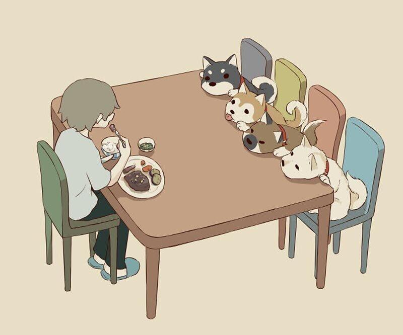 Иллюстрации японского художника о чувствах, которые трудно передать