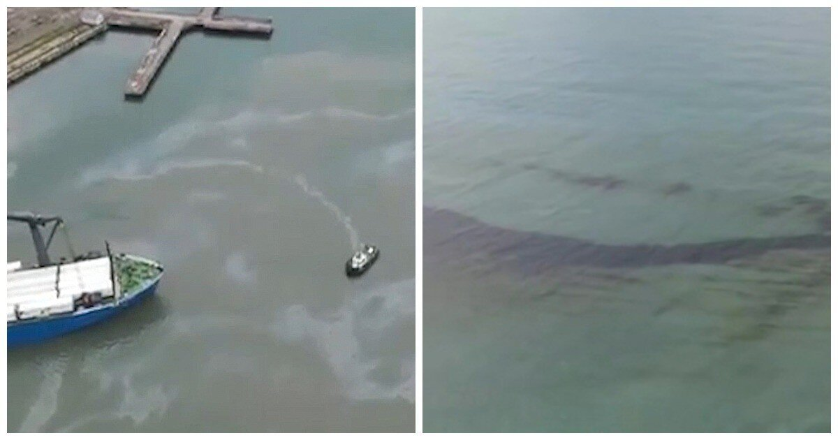 У берегов Туапсе произошел разлив нефтепродуктов