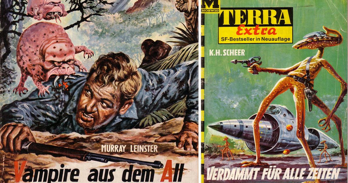 Монстры из космоса: великолепные обложки немецкого Sci-fi журнала Terra