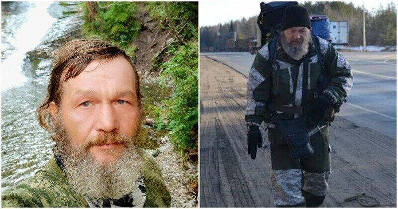 Россиянин прошел 40 тысяч км и собирается за Полярный круг
