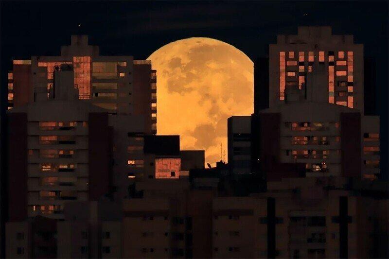 """""""Восход плохой луны"""": фоторепортаж о полном лунном затмении 26 мая 2021 года"""