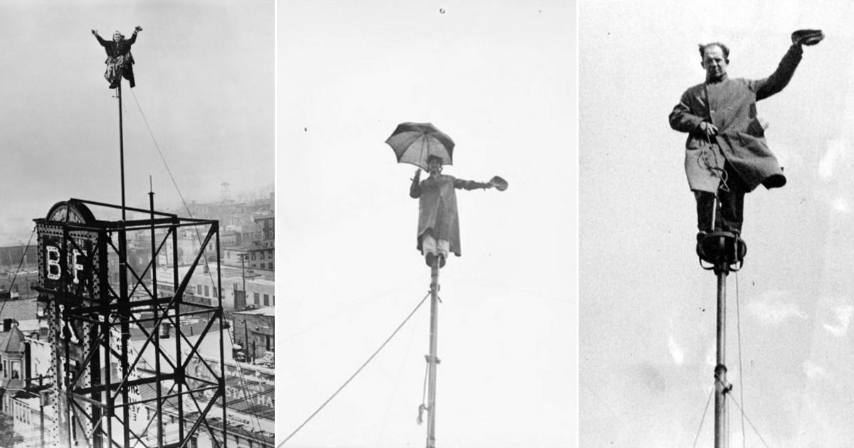 Человек, который сидел на шесте: немного о странной моде в США 1920-х годов