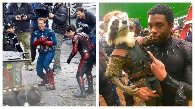 Закулисье Marvel: забавные и неожиданные фотографии со съемок