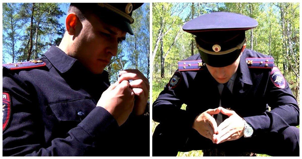 Красноярское МВД выпустило странное видео с грустным участковым в лесу