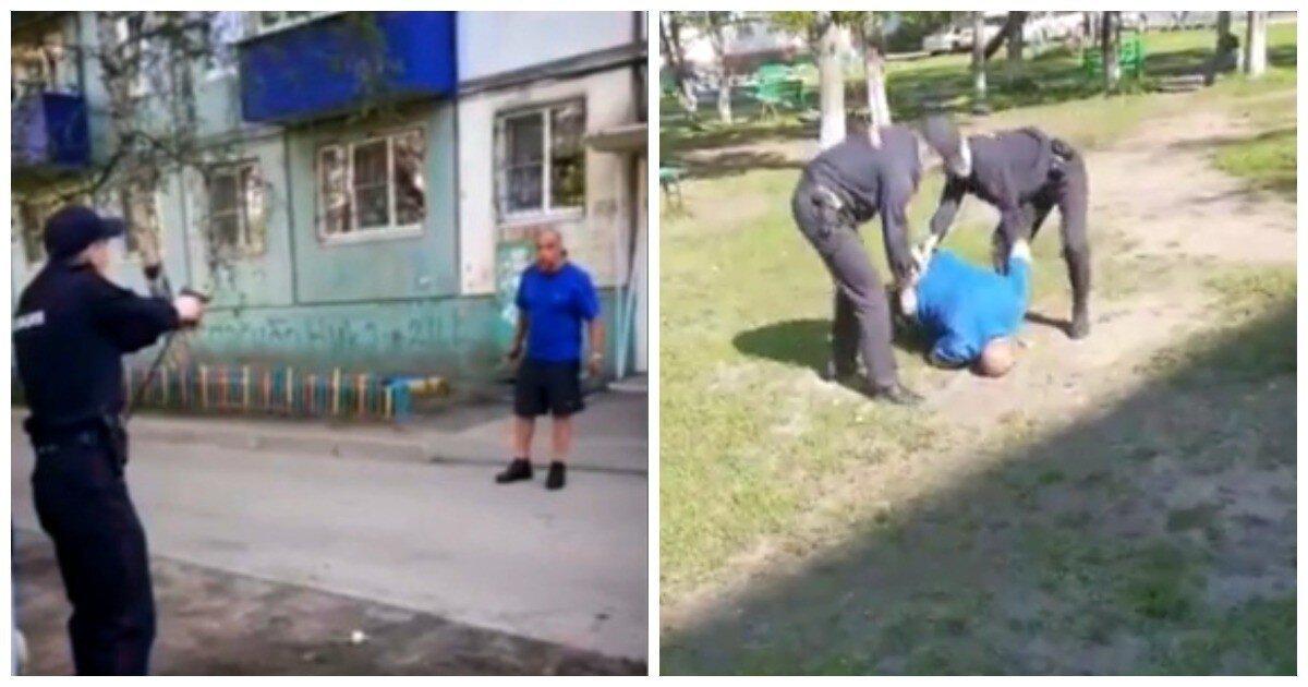 Иркутские полицейские применили оружие, чтобы обезвредить напавшего на них дебошира с ножами