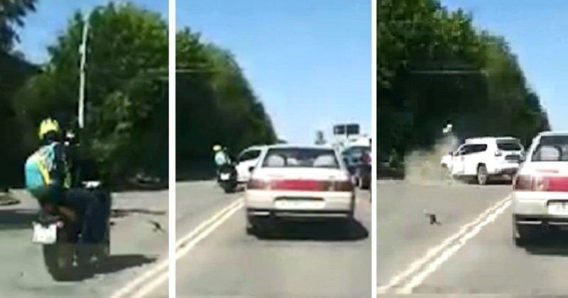 Авария дня. Мотоциклист из Екатеринбурга покалечил свою спутницу