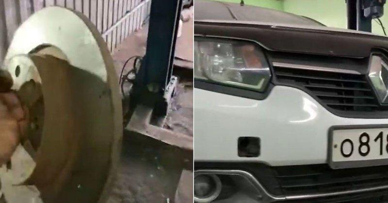 Тормоза придумали трусы: таксист удивил работников СТО
