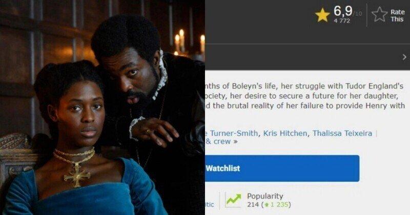 Обнулили, накрутили: киносайт IMDb исправил рейтинг сериала с темнокожей королевой Англии