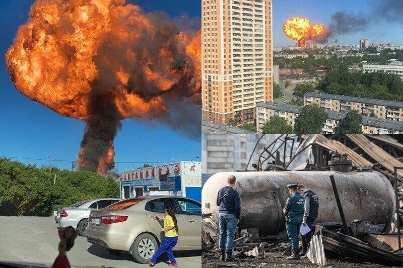"""""""Боже, люди обгоревшие бегут!"""": мощный взрыв разнес АЗС в Новосибирске"""