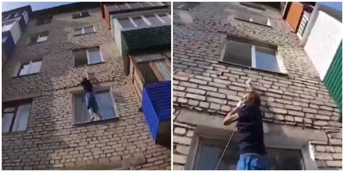 В Башкирии жена закрыла в квартире любителя выпить, а тот попытался вылезть через окно