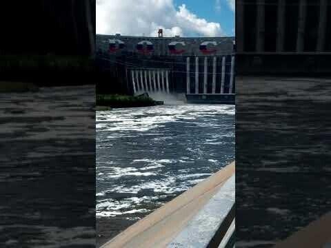 Саяно-Шушенская ГЭС. Аварийный сброс 2021