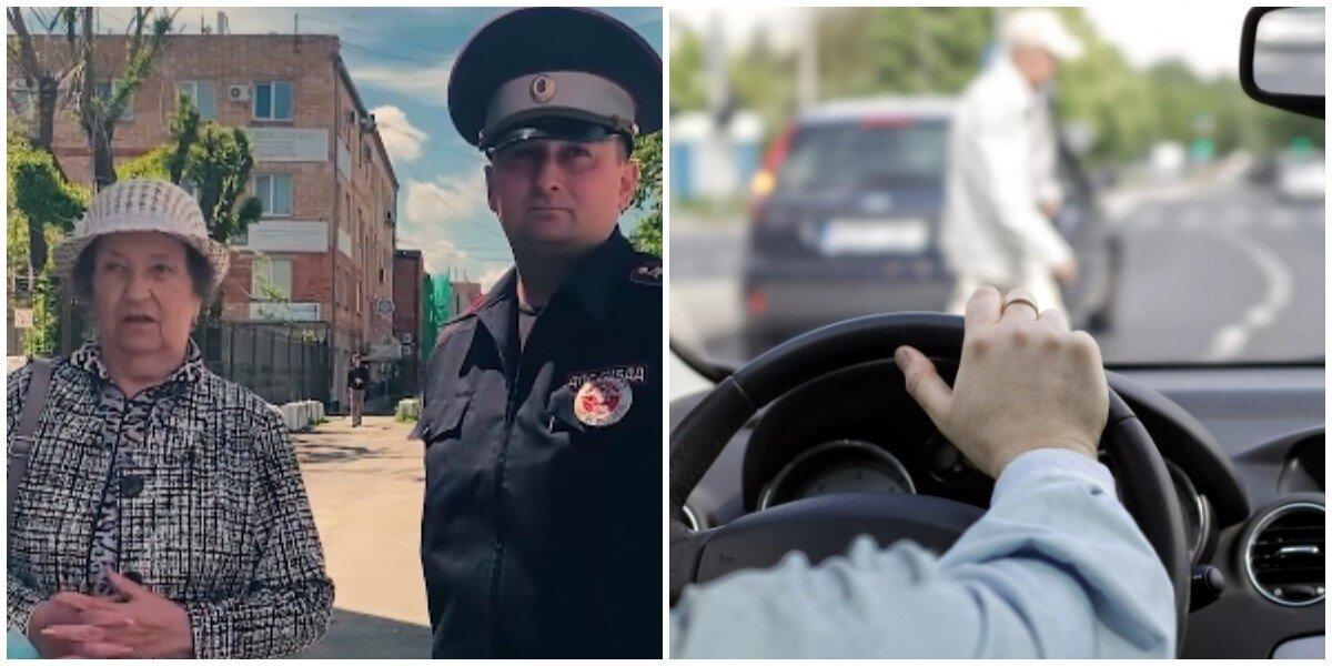 Во Владивостоке водитель подрезал бабушку с внуком и распылили пенсионерке газ в лицо