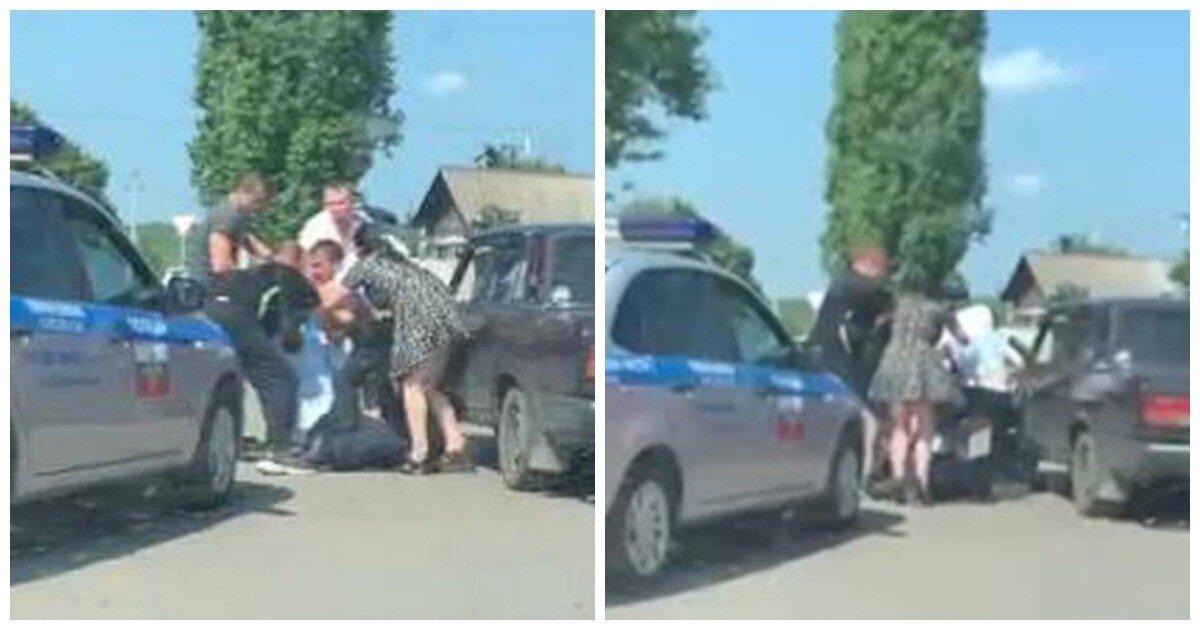 В Борисоглебске пьяный водитель и пассажирка напали на сотрудников ГИБДД