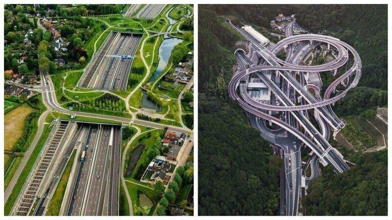 35 инфраструктурных сооружений и конструкций, красоту которых оценит каждый