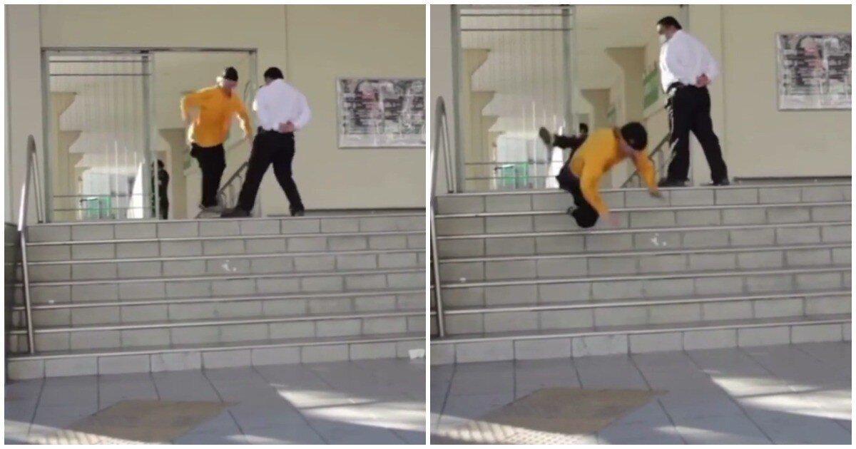 Охранник университета в Мексике жестоко проучил скейтера