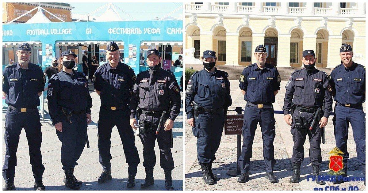 Шведские полицейские вышли патрулировать улицы Петербурга