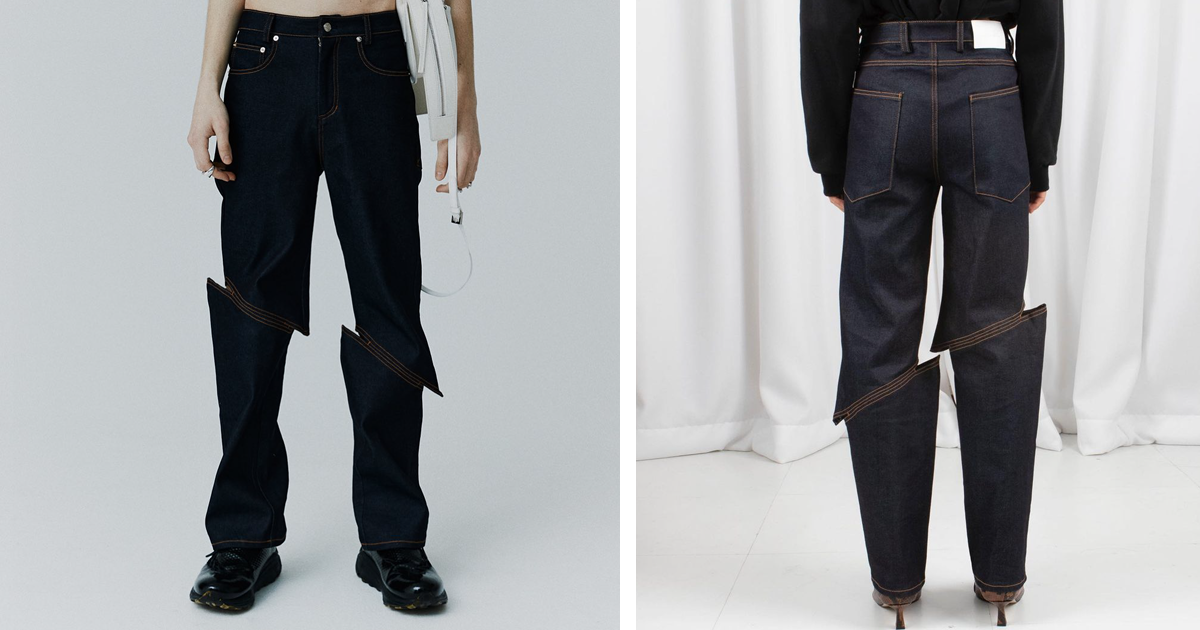 Такая странная мода: джинсы с оптической иллюзией