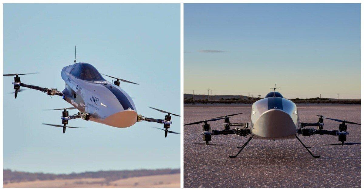 В Австралии испытали летающий гоночный электромобиль