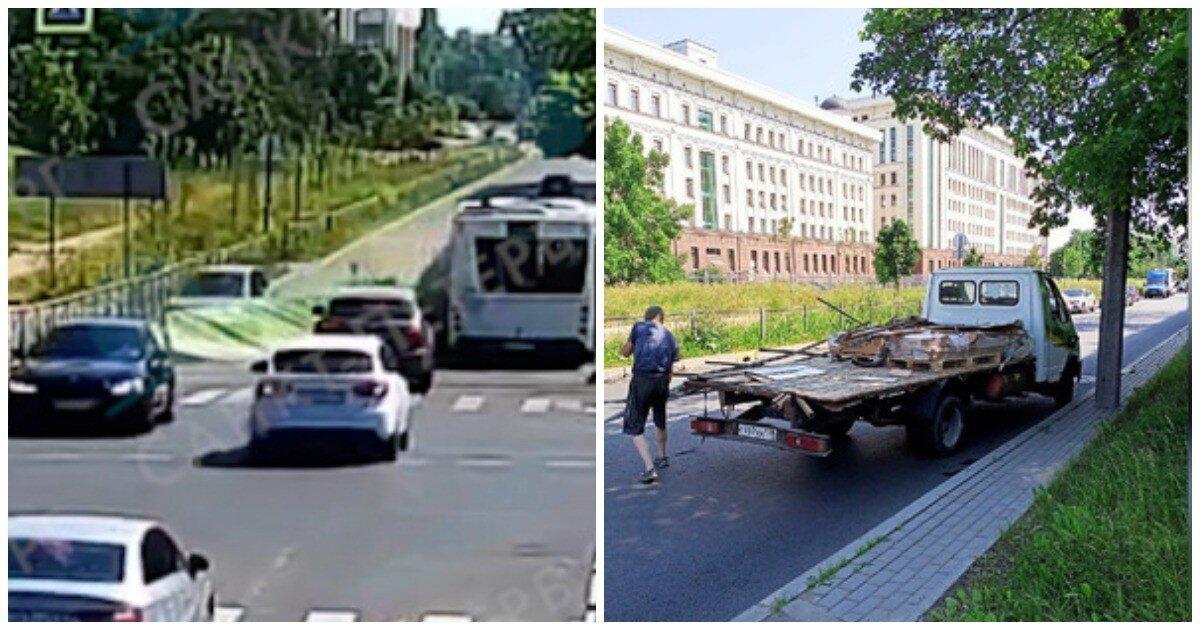 «Газель» потеряла кузов после столкновения с автобусом
