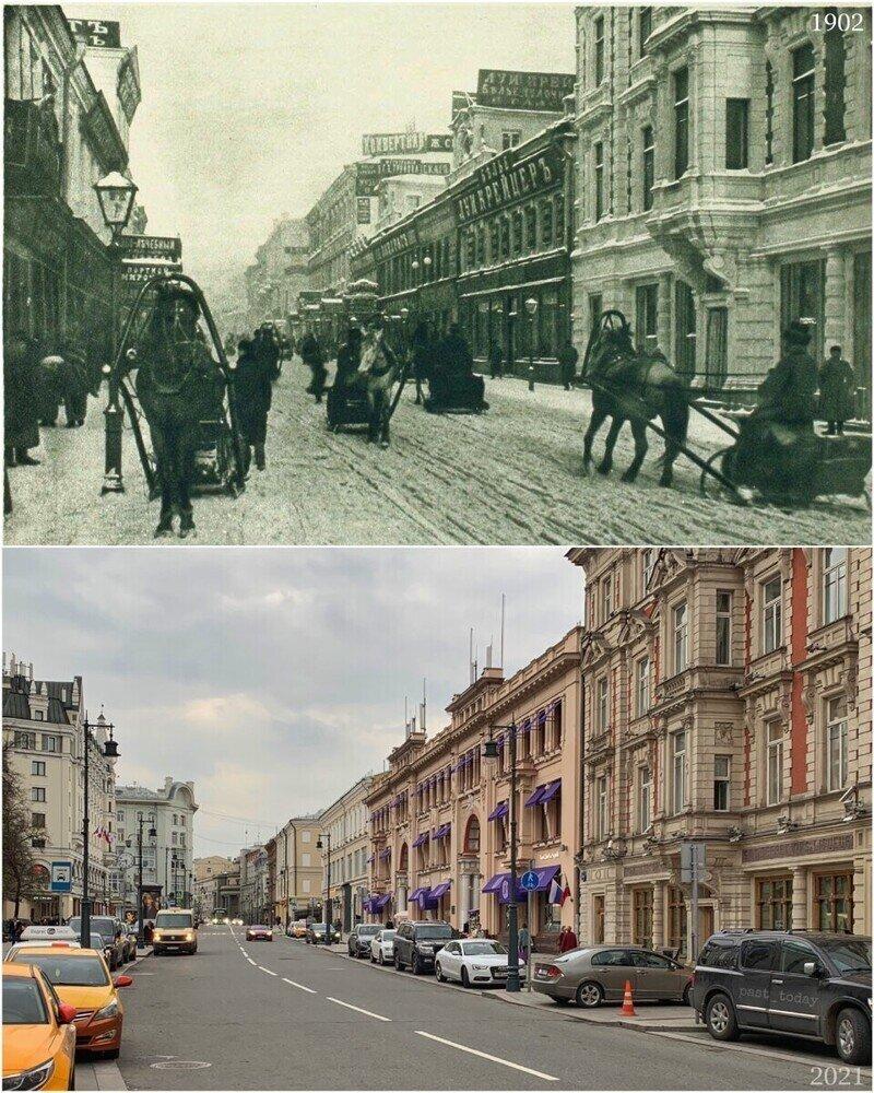 Москва было/стало, фото сравнения