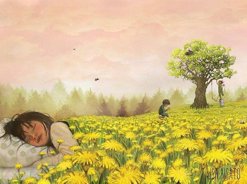 Сюрреалистические и многозначительные иллюстрации Лизы Айсато