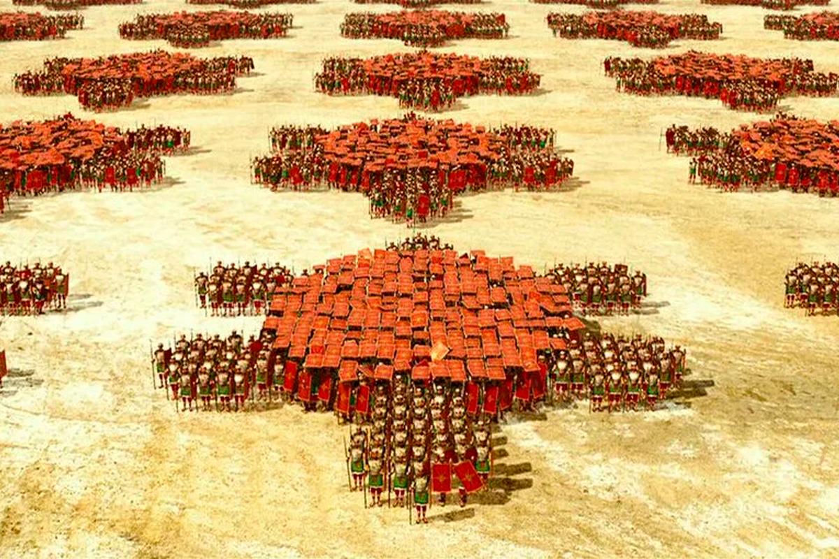 В каких ситуациях римская «черепаха» оказывалась бессильна?