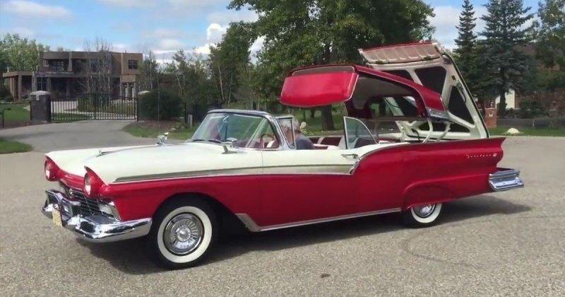 Интересные технологические и дизайнерские решения в старых американских автомобилях