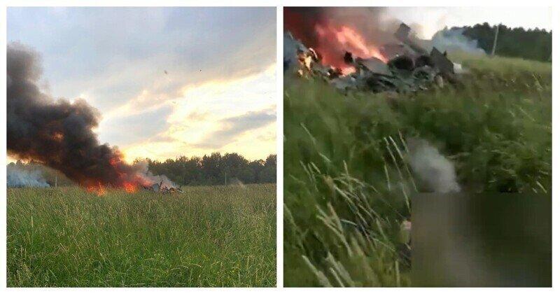 В сети появилось видео с места крушения вертолёта Росгвардии
