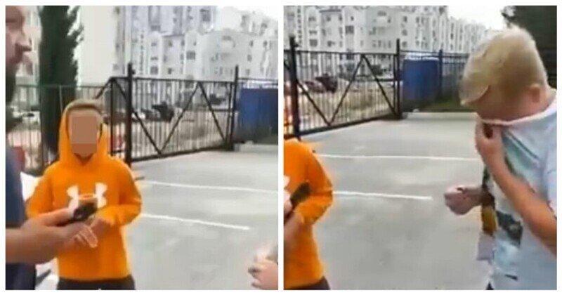 Раскаяние подростка, скручивающего колпачки с колес автомобилей