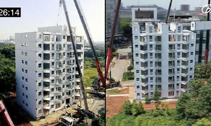 Не увидишь - не поверишь: китайцы строят многоквартирный дом за 29 часов