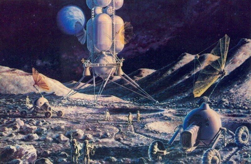 Космос в картинах советских художников