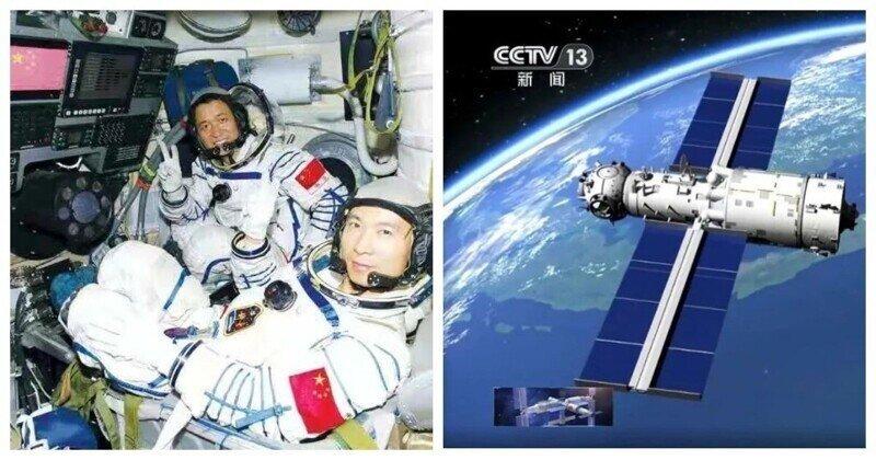 Китайские астронавтывпервые за 13 лет вышли в открытый космос