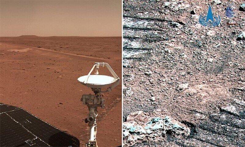 Космическое агентство Китая опубликовало новые снимки Марса