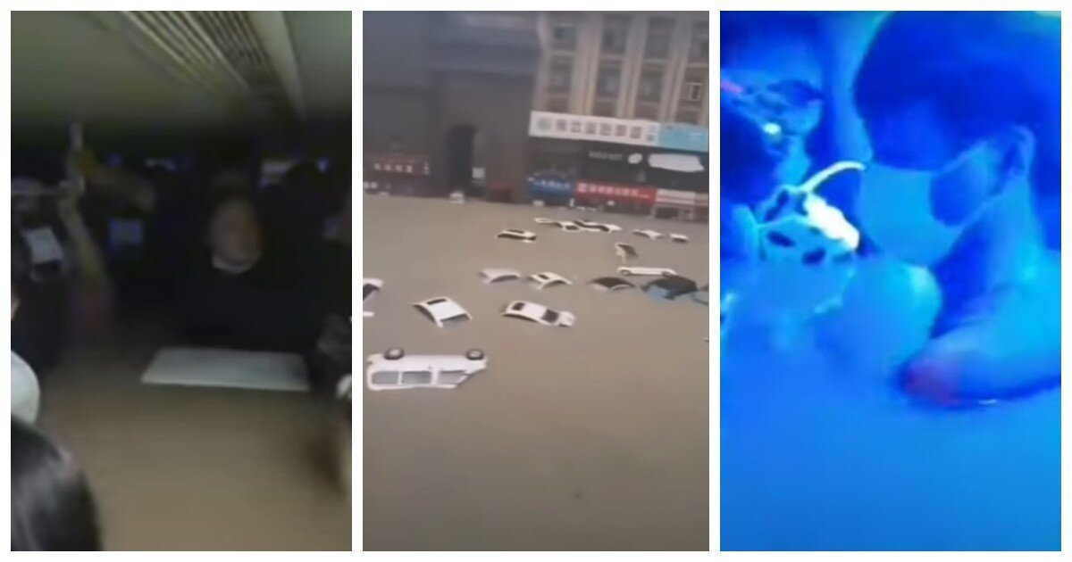 В Китае метрополитен превратился из подземного  вида транспорта - в подводный