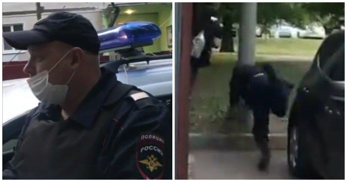 Столичный полицейский головой врезался в столб во время погони за закладчиком